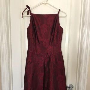 Women's Burgundy Midi-Dress